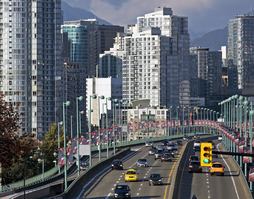Vancouver, Cambie Bridge Traffic